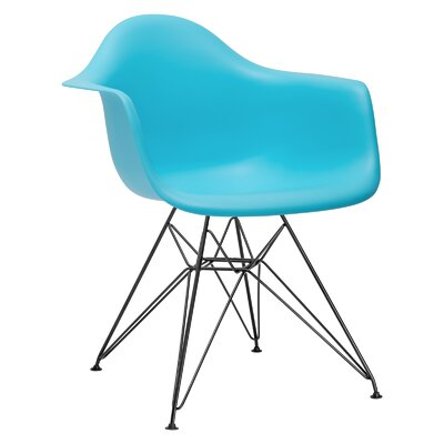 Padget Arm Chair (Set of 2) Upholstery: Aqua, Leg Finish: Chrome