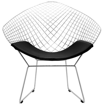 Makris Papasan Chair Upholstery: Black
