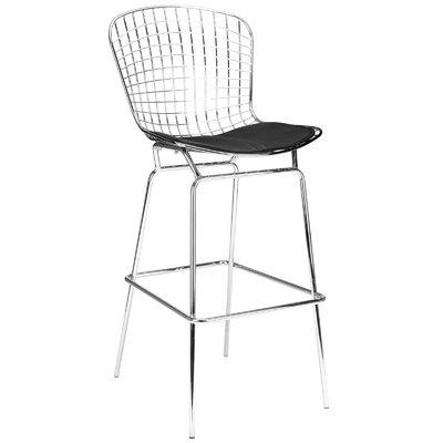 Makris 32 Bar Stool Seat Color: Black