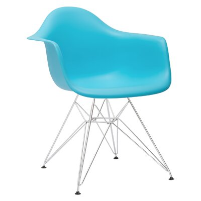 Rafael Arm Chair Color: Aqua