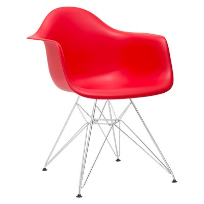 Rafael Arm Chair Color: Red