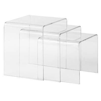 Burton 3 Piece Nesting Tables Finish: Clear