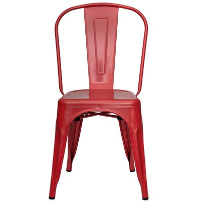 Alyssa Metal Side Chair Finish: Red