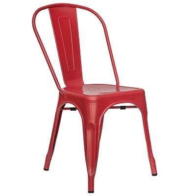Trattoria Side Chair Finish: Red
