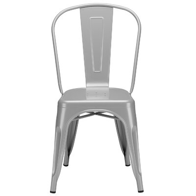 Alyssa Contemporary Side Chair Color: Grey