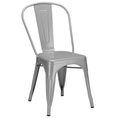 Trattoria Side Chair Color: Grey