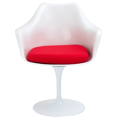 Daisy Arm Chair Upholstery: Red