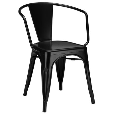 Trattoria Arm Chair Color: Black