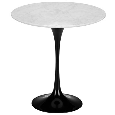 Grove City Marble End Table Color: Black