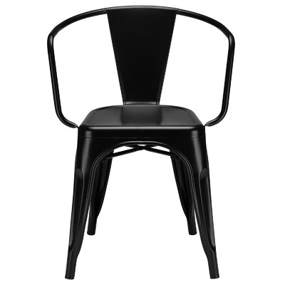 Alyssa Modern Arm Chair Color: Black