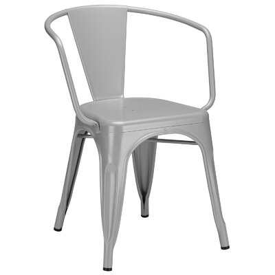 Trattoria Arm Chair Color: Gray