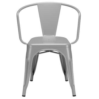 Trattoria Arm Chair Finish: Gray