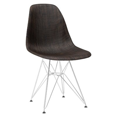 Rafael Woven Side Chair Upholstery: Coco