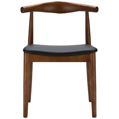 Keren Upholstered Dining Chair Frame Color: Walnut