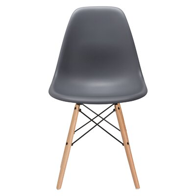 Vortex Side Chair Seat Color: Gray, Base Finish: Natural