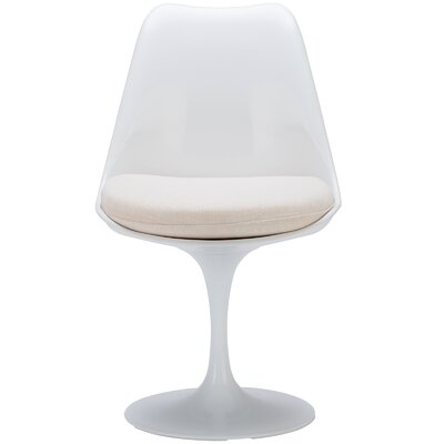 Cronk Side Chair Upholstery: White