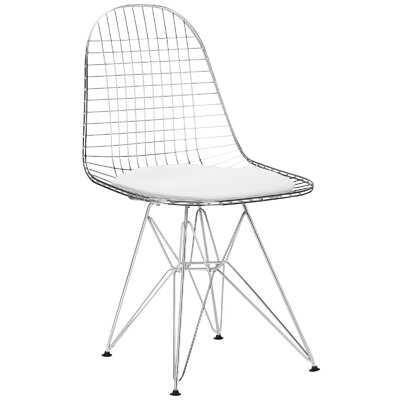 Hamlet Genuine Leather Upholstered Dining Chair Upholstery: White