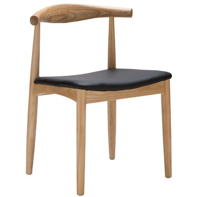 Keren Upholstered Dining Chair Finish: Natural