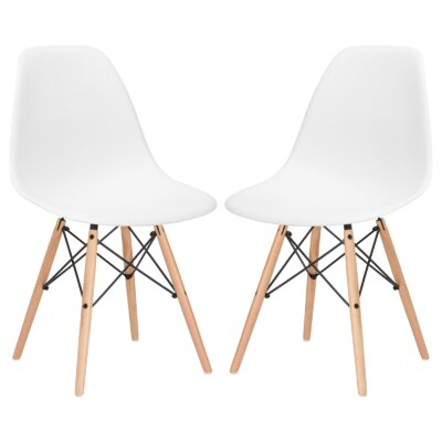 Boisvert Dining Chair Finish: White