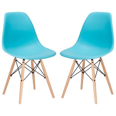 Boisvert Solid Wood Dining Chair Finish: Aqua