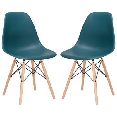 Boisvert Dining Chair Finish: Teal