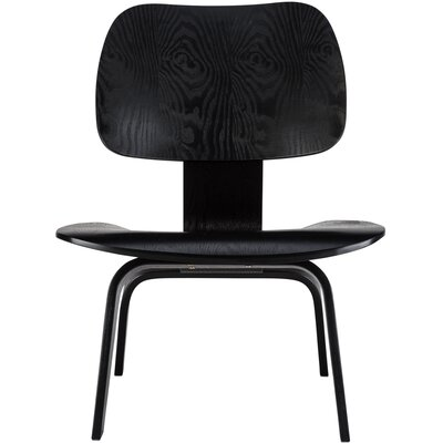 Isabella Lounge Chair Color: Black