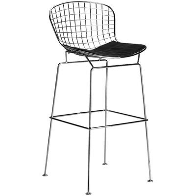 Morph 25 Counter Bar Stool Upholstery: Black
