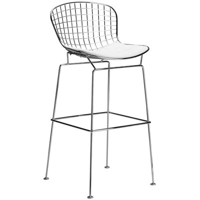 Morph 25 Counter Bar Stool Upholstery: White