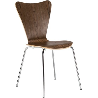 Elgin Solid Wood Dining Chair Finish: Walnut