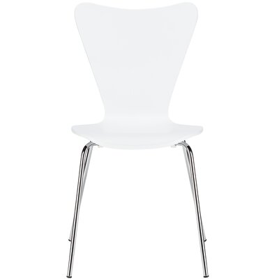 Elgin Solid Wood Dining Chair Finish: White