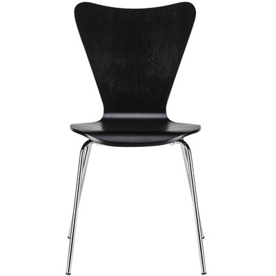 Elgin Solid Wood Dining Chair Finish: Black