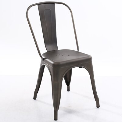 Trattoria Side Chair Color: Bronze