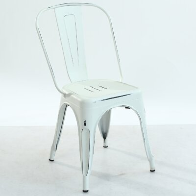 Trattoria Side Chair Color: Distressed White
