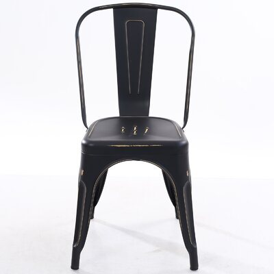 Trattoria Side Chair Finish: Distressed Black