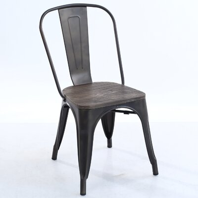 Trattoria Dining Chair Color: Elmwood/Bronze