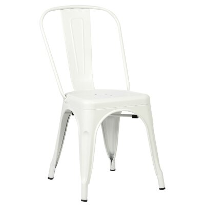 Trattoria Side Chair Color: White