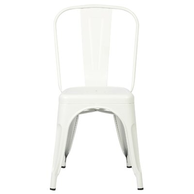 Alyssa Contemporary Side Chair Color: White