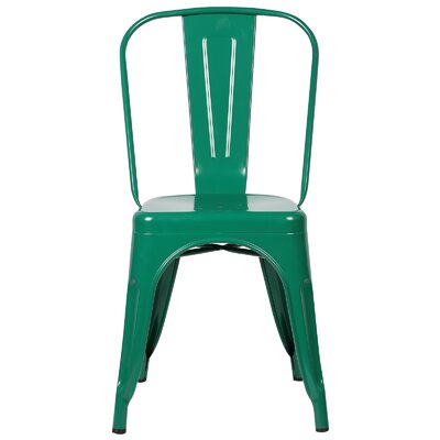 Trattoria Side Chair Finish: Dark Green