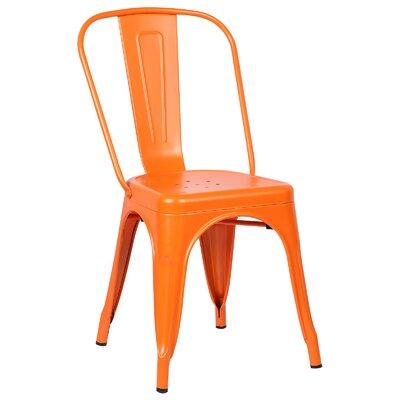 Trattoria Side Chair Color: Orange
