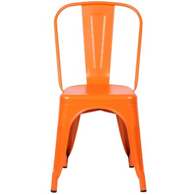 Alyssa Contemporary Side Chair Color: Orange
