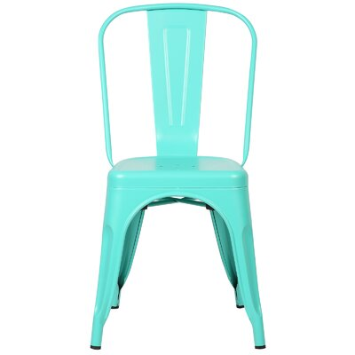 Trattoria Side Chair Finish: Aqua