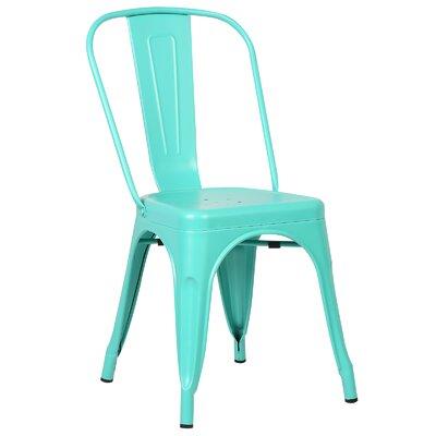 Trattoria Side Chair Color: Aqua