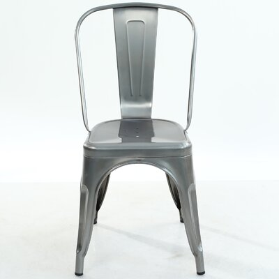 Trattoria Side Chair Finish: Polished Steel