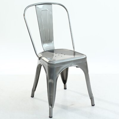Trattoria Side Chair Color: Polished Steel