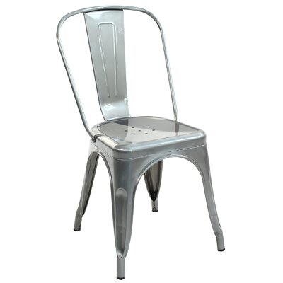 Trattoria Side Chair Finish: Polished Gunmetal