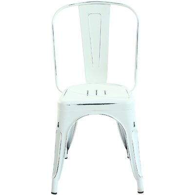 Trattoria Side Chair Finish: Distressed White