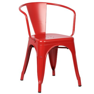 Trattoria Arm Chair Color: Red