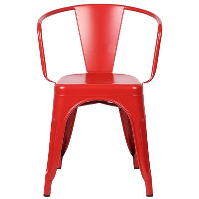 Alyssa Modern Arm Chair Color: Red