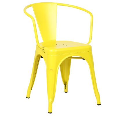 Trattoria Arm Chair Color: Yellow