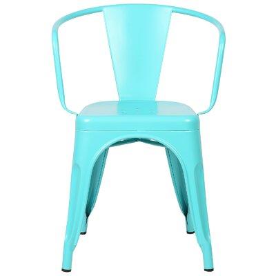 Alyssa Modern Arm Chair Color: Aqua